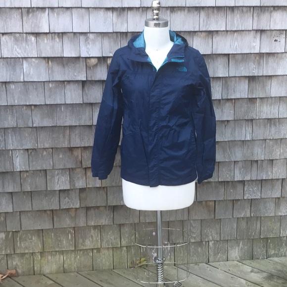 North Face Boys' Navy Blue Hooded Rain Jacket